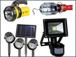 Прожекторы, фонари, светильники, аварийное освещение.