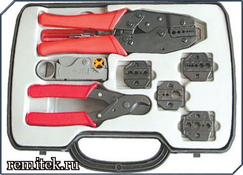 Набор инструмента для работы с коаксиальным кабелем HT-330 - фото 1