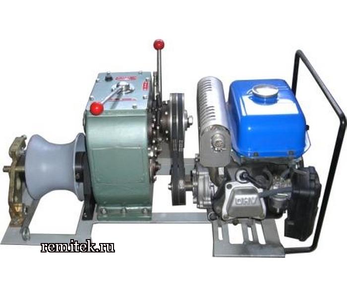 Лебёдка тяговая автономная, бензиновый привод, ЛТА-5 - фото 1