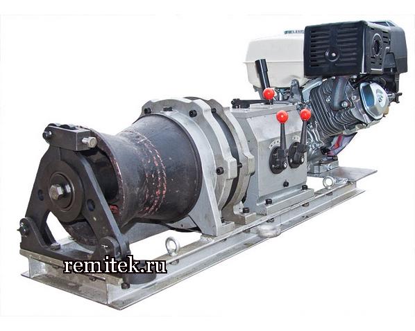 Лебёдка тяговая с бензиновым двигателем ЛТБ-5 (КВТ) - фото 1