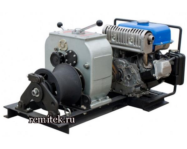 Лебедка тяговая с бензиновым двигателем ЛТБ-3 - фото 1