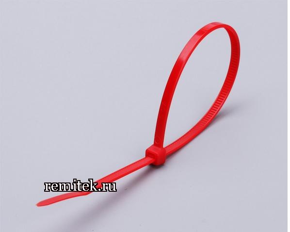 Цветные кабельные стяжки КСС 3x100 (красные) (100шт.) - фото 1