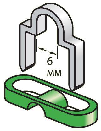 12215 Набор фигурных скоб для круглого кабеля и изоляторов (63+30 шт) - фото 1