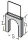 12204 Скобы с пластиковым ограничителем для крепления кабеля - фото 1