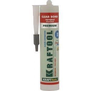 Клей монтажный KRAFTOOL KraftNails Premium KNP-701 полиуретан экстрасильный, прозрачный, универс, водостойкий, 310мл - фото 1