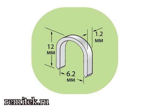 12211 Скобы U-образные для крепления кабеля - фото 1