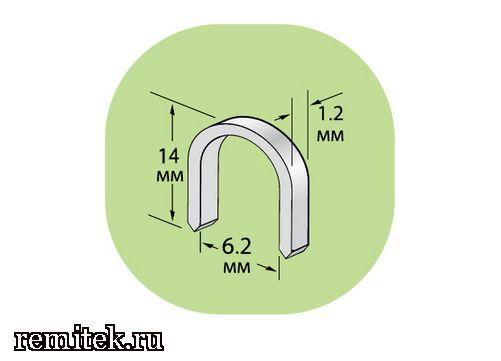 12212 Скобы U-образные для крепления кабеля - фото 1
