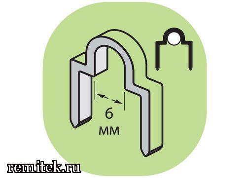 12213 Скоба фигурная для круглого кабеля - фото 1
