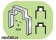 12214 Скоба фигурная для плоского кабеля - фото 1