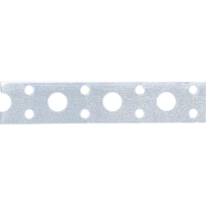 Лента перфорированная, вентиляционная, прямая, 0,55 мм, LP V, 1,7 см х 25 м, цинк, Россия. СИБРТЕХ - фото 1
