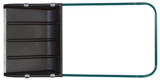 Скрепер для уборки снега пластиковый, металлическая ручка 600х470x1400 мм - фото 1