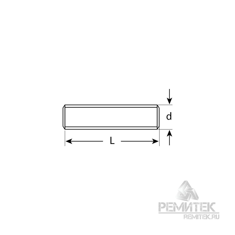 Шпилька ЗУБР резьбовая DIN 975, класс прочности 4.8, оцинкованная, М10x1000, ТФ0, 1 шт. - фото 3