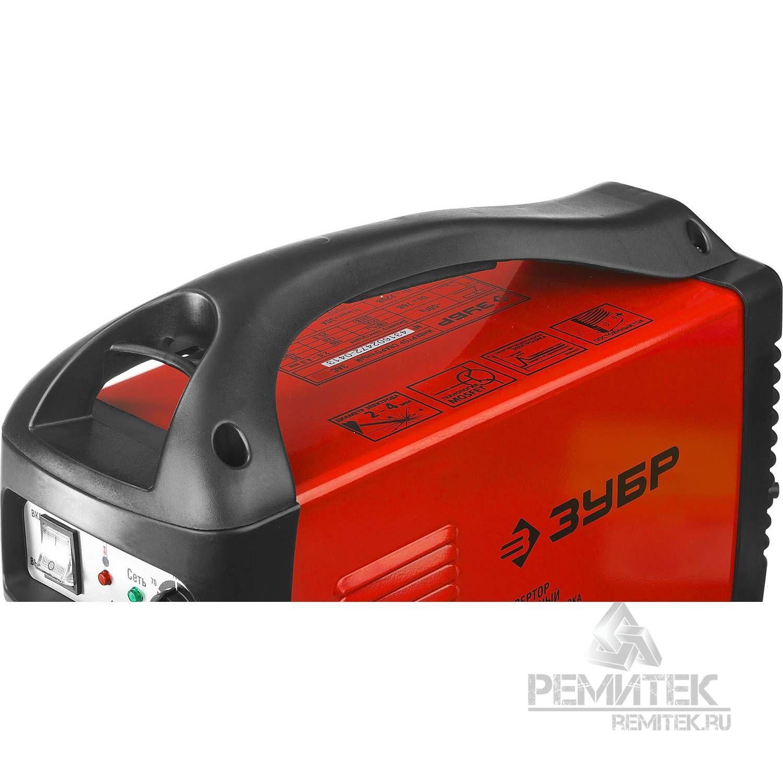 Инвертор ЗУБР сварочный, электр. 1,6-3,2 мм, А20-140, 1*220В - фото 6
