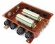 Коробка с зажимами наборными КЗНС-48 У2 IP54 пластиковый ввод - фото 1